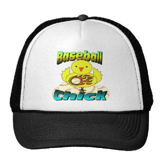 Polluelo del béisbol gorros bordados