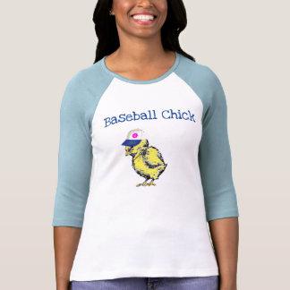 Polluelo del béisbol camisetas