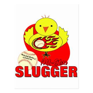 Polluelo del béisbol tarjeta postal