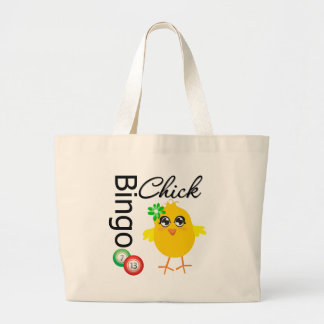 Polluelo del bingo bolsa tela grande