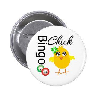 Polluelo del bingo pin redondo de 2 pulgadas