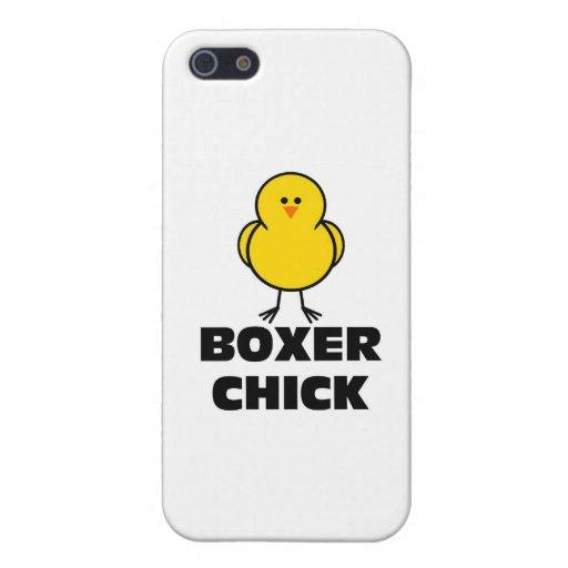 Polluelo del boxeador iPhone 5 carcasas
