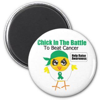 Polluelo del cáncer de hígado en la batalla para b iman para frigorífico