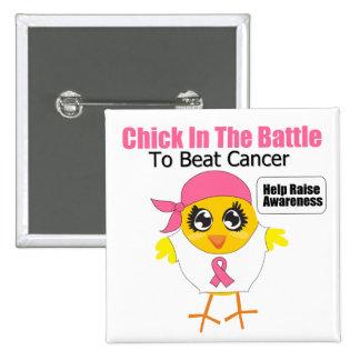 Polluelo del cáncer de pecho en la batalla para ba pin