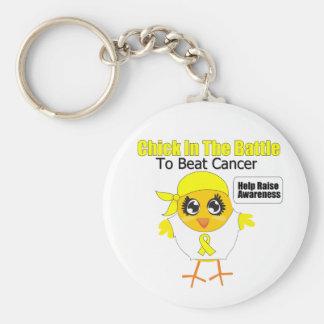 Polluelo del cáncer de vejiga en la batalla para b llaveros