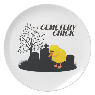 Polluelo del cementerio plato de comida