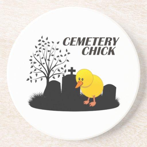Polluelo del cementerio posavasos manualidades
