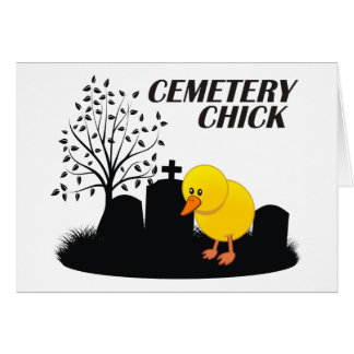 Polluelo del cementerio tarjeta de felicitación