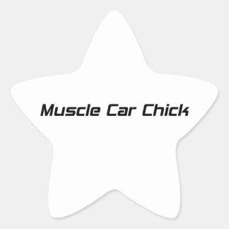Polluelo del coche del músculo por Gear4gearheads Pegatina En Forma De Estrella