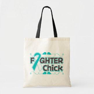 Polluelo del combatiente del cáncer de cuello del bolsa tela barata