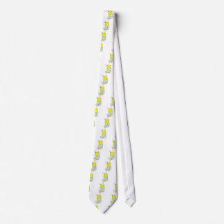 Polluelo del conejito de pascua corbatas personalizadas