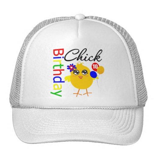 Polluelo del cumpleaños 10 años gorras
