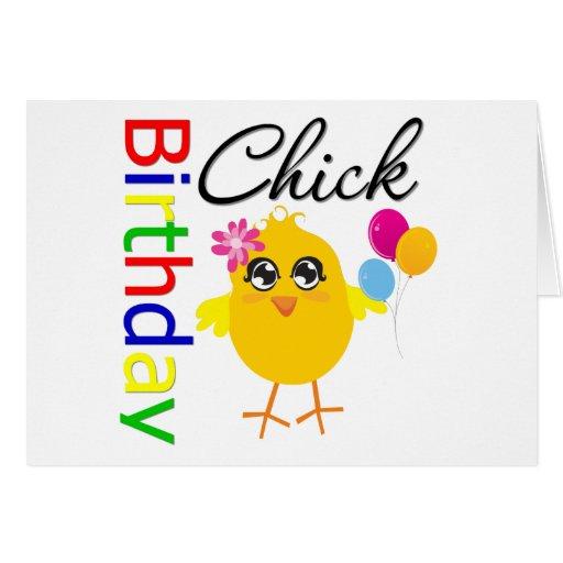 Polluelo del cumpleaños tarjeta