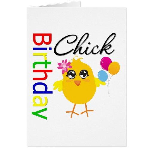 Polluelo del cumpleaños tarjeta de felicitación