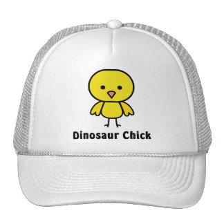 Polluelo del dinosaurio gorras de camionero