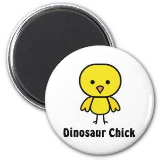 Polluelo del dinosaurio imán redondo 5 cm