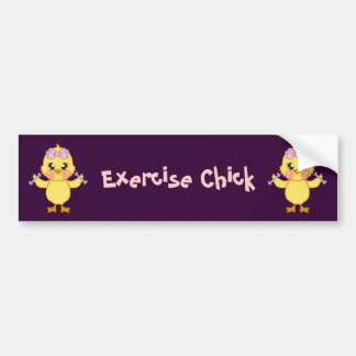 Polluelo del ejercicio (personalizable) etiqueta de parachoque