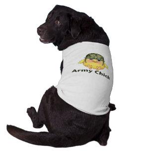 Polluelo del ejército camiseta de perrito