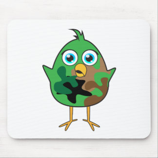 Polluelo del ejército tapetes de ratón