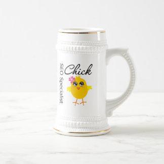 Polluelo del especialista de SEO Jarra De Cerveza