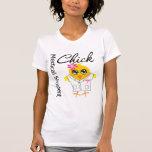 Polluelo del estudiante de medicina camisetas
