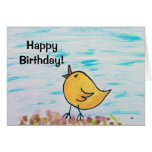Polluelo del feliz cumpleaños felicitaciones