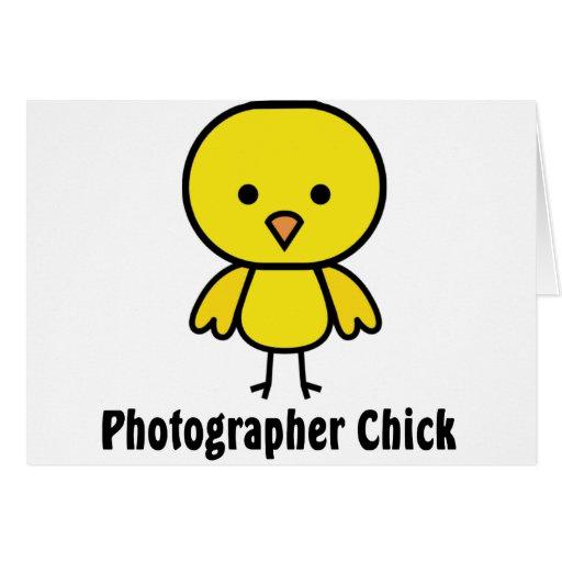 Polluelo del fotógrafo tarjeton