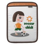 Polluelo del fútbol mangas de iPad