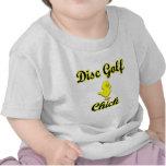 Polluelo del golf del disco camisetas