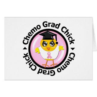 Polluelo del graduado de Chemo del cáncer de pecho Tarjeta De Felicitación