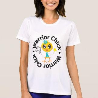 Polluelo del guerrero del cáncer ovárico camisetas