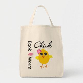 Polluelo del gusano de libro bolsas
