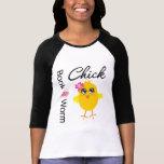 Polluelo del gusano de libro camiseta