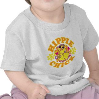 Polluelo del Hippie Camisetas