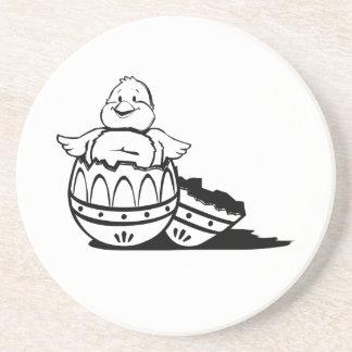 Polluelo del huevo de Pascua del bebé Posavasos Cerveza