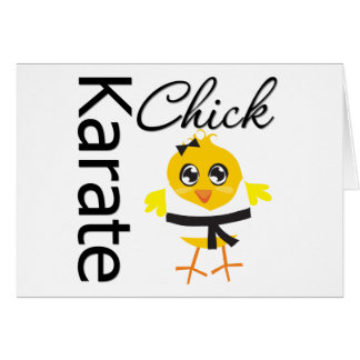 Polluelo del karate tarjeta
