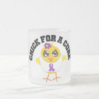 Polluelo del lupus para una curación taza cristal mate