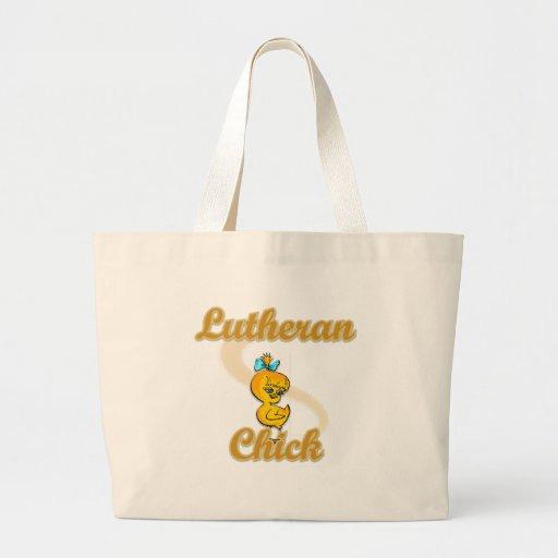 Polluelo del Lutheran Bolsas De Mano