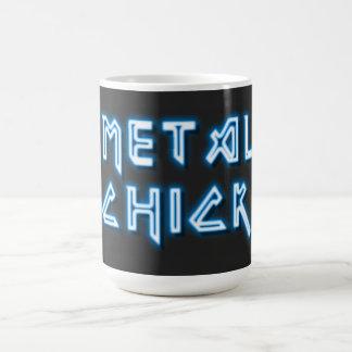 Polluelo del metal taza básica blanca
