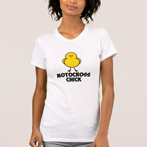 Polluelo del motocrós camisetas