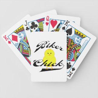 Polluelo del motorista baraja de cartas