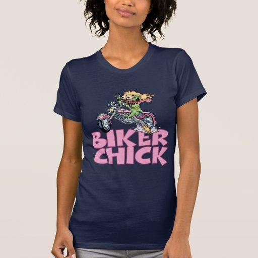 Polluelo del motorista del monstruo camiseta