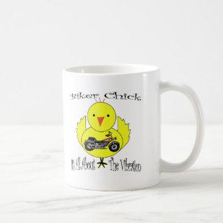 Polluelo del motorista tazas de café