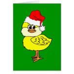 Polluelo del navidad felicitacion
