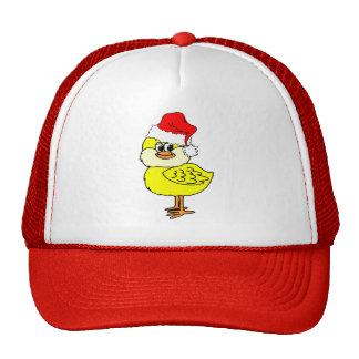 Polluelo del navidad gorros bordados