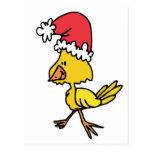 Polluelo del navidad tarjetas postales