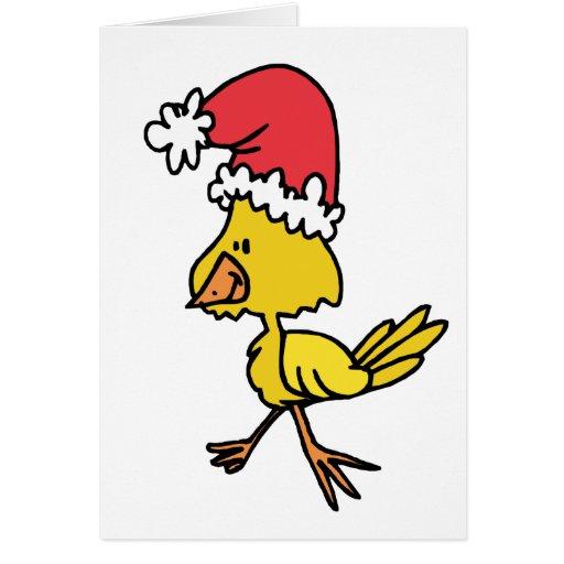 Polluelo del navidad tarjetón