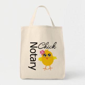 Polluelo del notario bolsa tela para la compra