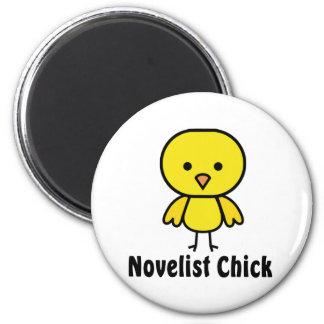 Polluelo del novelista iman de nevera