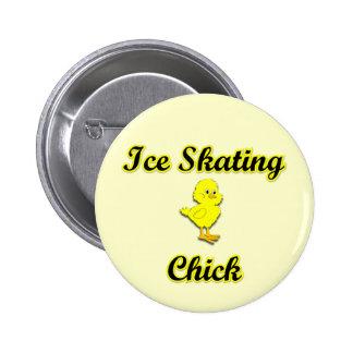 Polluelo del patinaje de hielo pin redondo 5 cm